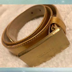 Escada genuine leather gold colored belt